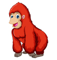 cute gorilla cartoon vector image vector image