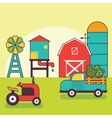 Farm Warehouse Car Agriculture and Industry vector image