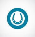 Horseshoe icon bold blue circle border vector image