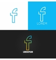 Letter F logo alphabet design icon set background vector image