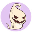 Naughty ghost smiling cartoon vector image