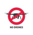 No drone sign vector image