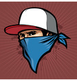 man with bandana vector image