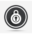 Lock sign icon Locker symbol vector image