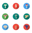 Mushroom set icons in flat style Big collection vector image