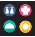 Restaurant kitchen items icons vector image