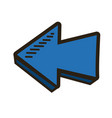 blue direction arrow up abstract icon isolated vector image