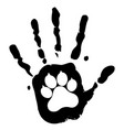 dog pet animal paw care logo template vector image vector image