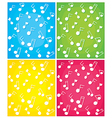 Set of note backgrounds vector image vector image