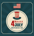 4th july independence day united stated of america vector image