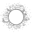 colorless christmas greeting card vector image