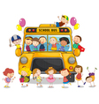School bus kids vector image