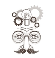 Human thinking vector image