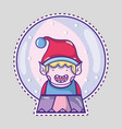 merry christmas happy celebration design vector image