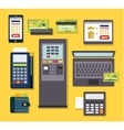 Mobile Payment Icon Set vector image