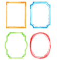 Set watercolor frames vector image