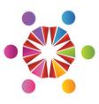 Teamwork cultural logo vector image