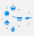 restaurant sticker infographic vector image