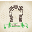 St Patricks Day vintage background vector image