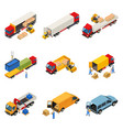 loading of goods set vector image