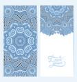 blue colour decorative label card for vintage vector image