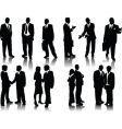 office people silhouettes vector image vector image