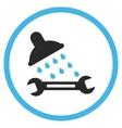 Shower Plumbing Flat Icon vector image