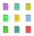 Document icons set cartoon style vector image