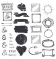 Doodle decor element ampersandcatchword set vector image