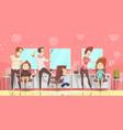 hair salon background vector image