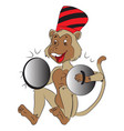 monkey with cymbals vector image