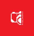 pixel photography theme logotype vector image
