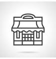 Pizzeria black line design icon vector image
