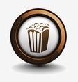 popcorn icon vector image