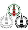 set of russian towers vector image