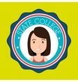 state college student emblem woman vector image