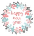 Happy New Year pastel card vector image
