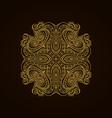 Vintage gold decorative element vector image