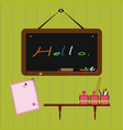 blackboard with accessory vector image