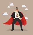 best employee businessman superhero vector image vector image