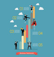 business teamwork concept infographic vector image