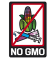 no GMO label vector image vector image