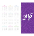 Calendar for 2015 vector image vector image