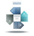 4 options business infographics strategy tags vector image