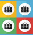 bag icon flat design vector image