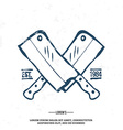 Chefs Vintage Crossed Knives T-shirt graphics vector image