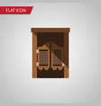isolated western wooden flat icon saloon vector image
