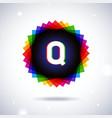 Spectrum logo icon Letter Q vector image