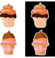 Set of sweet cakes eps10 vector image vector image