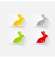 realistic design element easter rabbit vector image